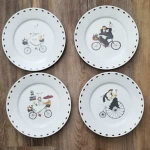 "Oneida Kitchen Set of 4 Chefs On the Go 8"" Plates"